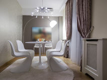 Dinning room. Interior, decoration and furniture Royalty Free Stock Image
