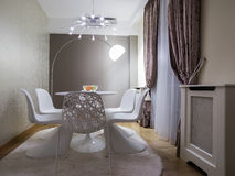 Dinning room. Interior, decoration and furniture Stock Photography