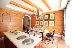 Dinning room interior Stock Photos
