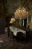 Dinning room at Louvre. Photography of dinning room interior, Louvre, Paris stock photo