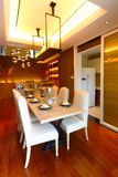 Dinning room. The luxury dinning room in a modern house stock image