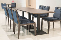 Dinning room table and chairs Royalty Free Stock Photography