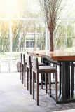 Dinning room table and chairs Stock Photography