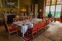 Dinning roomV in Charlecote Victorian House Royalty Free Stock Photography