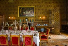 Dinning roomV in Charlecote Victorian House Royalty Free Stock Image