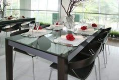 Dinning Tabelleneinstellung Stockbilder
