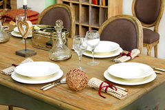 Dinning table Stock Photo