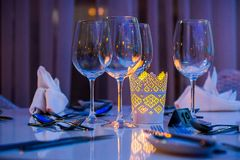 Dinning table Stock Photos