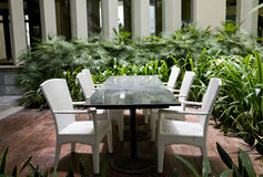Dinning table and chairs Stock Images