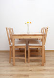 Dinning table and chairs Stock Photos