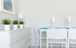 Dinning table in contemporary room Stock Image