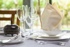 Dinning table decoration Royalty Free Stock Photography