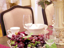 Dinning table decoration Royalty Free Stock Images