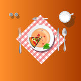 Dinning table place setting Royalty Free Stock Images