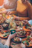 Dinning together. Royalty Free Stock Photo