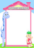dino房子石头 向量例证
