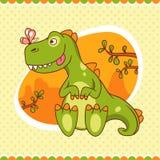 Dino и бабочка бесплатная иллюстрация