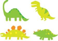 Dino. A set of stylized fun dinosaurs Royalty Free Stock Photography