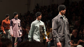 Dino Alves show Lisbon Fashion Week AW2014 Royalty Free Stock Photo
