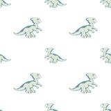 Dino azul en el fondo blanco Fotografía de archivo