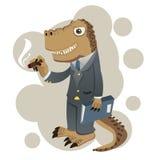 Dino biznesmen Fotografia Royalty Free