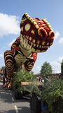Dino at  Bloemencorso Beltrum Royalty Free Stock Photography