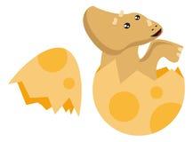 Dino Born. From egg illustration royalty free illustration