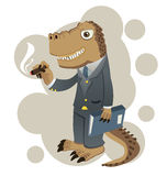 Dino businessman Royalty Free Stock Photography