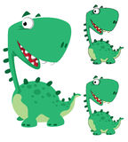 Dino cartoon funny Stock Images