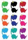 Dino cartoon funny color Royalty Free Stock Photos