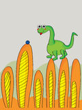 Dino Cute Plant Royalty Free Stock Photography