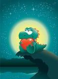 Dino dans l'amour Photographie stock libre de droits