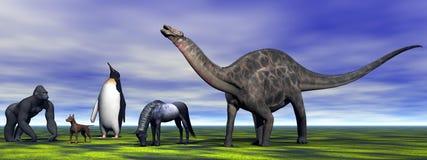 Dino Dicraeosaurus Foto de Stock