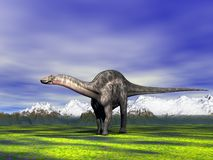 Dino Dicraeosaurus Zdjęcia Stock