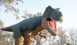 Dino. Saur model in a park Stock Image