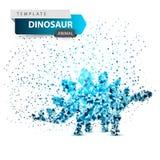 Dino, dinossauro - ilustração do ponto do gelo fotografia de stock royalty free