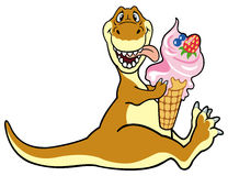 Dino eating ice cream Stock Photo