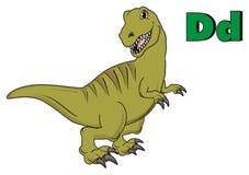 Dino et lettres vertes Illustration de Vecteur