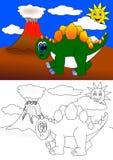 Dino färgläggningbok Royaltyfri Bild