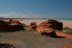 Dino fotspår Arkivfoto