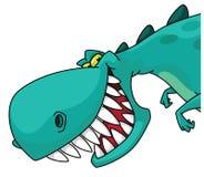 Dino head. Illustration of a dino head Stock Photos