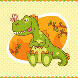 Dino i motyl Zdjęcie Stock