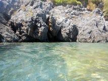 Dino Island on the Coast of the Cedars, Tyrrhenian Sea, Italy Royalty Free Stock Image