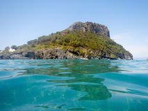 Dino Island on the Coast of the Cedars, Tyrrhenian Sea, Italy Stock Image