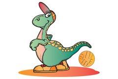 Dino koszykowy piłkę Obrazy Stock