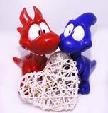 Dino love Royalty Free Stock Image