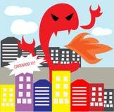 Dino Monster Cartoon enojado Fotografía de archivo