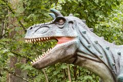 Dino with open mouth Royalty Free Stock Photo