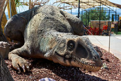 Dino Park of Algar. Spain. Algar, Spain - April 8, 2017: Realistic model of a dinosaur in the Dino Park of Algar. It is a unique entertainment and educational Stock Photos