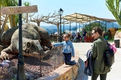Dino Park av Algar Arkivbilder